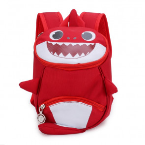 Kids Baby Shark Backpack Schoolbag Rucksack Red