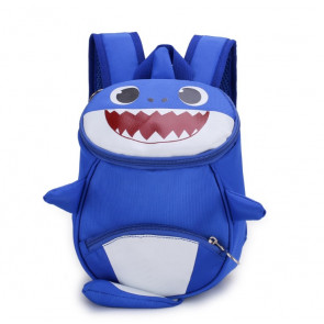 Kids Baby Shark Backpack Schoolbag Rucksack Blue