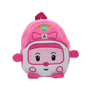Pink Robocar Poli Soft Small Backpack Schoolbag Rucksack