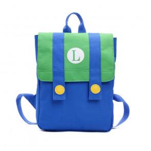 Luigi Style Backpack Rucksack Schoolbag