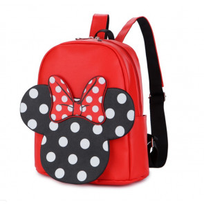 Minnie Mouse Kids Leather Backpack Rucksack Schoolbag
