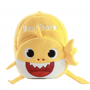 Toddler Baby Shark Yellow Soft Backpack Rucksack Schoolbag