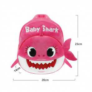 Toddler Baby Shark Pink Soft Backpack Rucksack Schoolbag