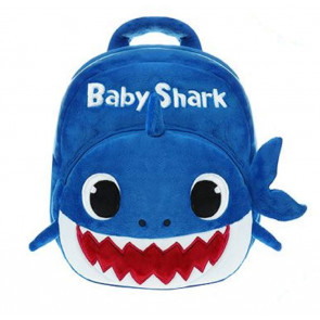 Toddler Baby Shark Blue Soft Backpack Rucksack Schoolbag