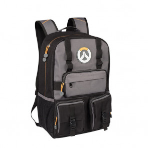 Overwatch MVP Laptop School Backpack Black/Gray 18 Inch