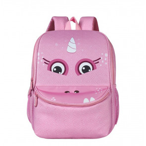 Pink Monster 3D Shape Backpack Schoolbag Rucksack