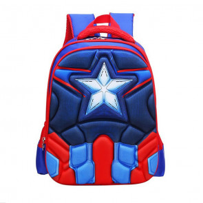 Captain America Avengers Kids 3D Backpack Schoolbag Rucksack