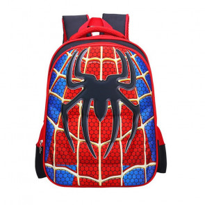 SpiderMan Kids 3D Backpack Schoolbag Rucksack