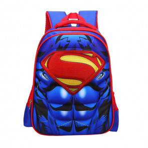 Superman Kids 3D Backpack Schoolbag Rucksack