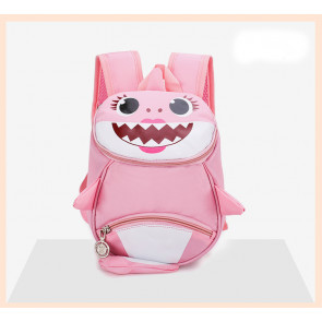 Kids Baby Shark Backpack Schoolbag Rucksack Pink