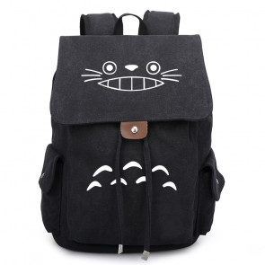Totoro Cat Face Canvas Backpack Schoolbag Rucksack