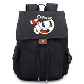 Cuphead Canvas Backpack Schoolbag Rucksack