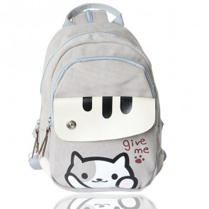 Neko Atsume Give Me Paw Canvas Backpack