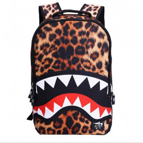Leopard Shark Backpack Schoolbag Rucksack