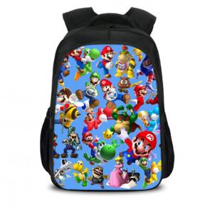 Mario Characters Backpack Schoolbag Rucksack
