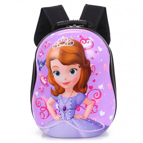 Princess Sophia Hard Plastic Kids Backpack Schoolbag Rucksack
