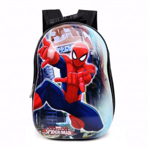 SpiderMan Hard Plastic Kids Backpack Schoolbag Rucksack
