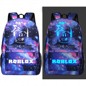 Roblox Glow in the Dark Galaxy Rucksack Backpack Schoolbag