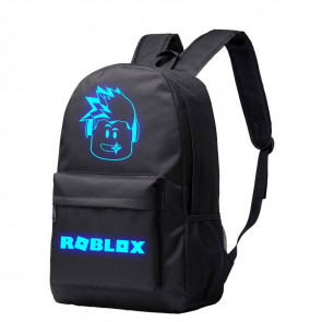 Roblox Glow in the Dark Black Rucksack Backpack Schoolbag