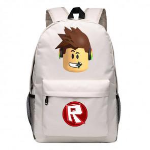 Roblox Standard Face Red Rucksack Backpack Schoolbag