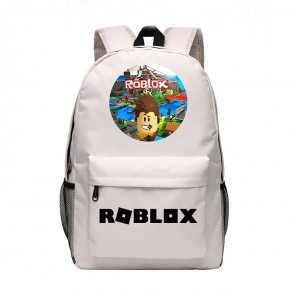 Roblox Standard Face White Rucksack Backpack Schoolbag