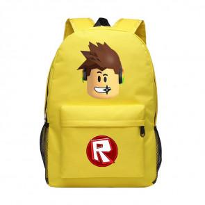 Roblox Standard Face Yellow Rucksack Backpack Schoolbag