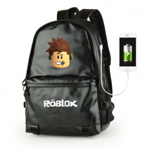 Roblox Leather High Quality Rucksack Backpack Schoolbag