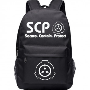 SCP Secure Contain Protector Canvas Rucksack Backpack Schoolbag
