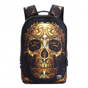 Skull Design Backpack Schoolbag Rucksack