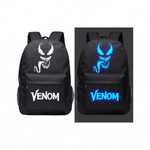 Venom Glow in the Dark Face Rucksack Backpack Schoolbag