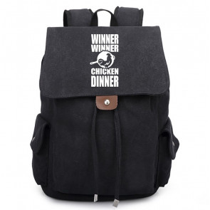 Winner Winner Chicken Dinner Canvas Backpack Schoolbag Rucksack