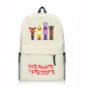 Five Nights At Freddy's White Backpack