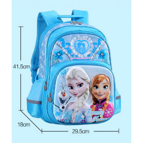 Frozen Elsa and Anna 3D Backpack, Ages 5 to 12, 17 inch