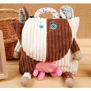 Sozzy Kids Children Toddler Corduroy Animal Backpack - Cow