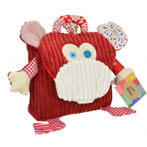 Sozzy Kids Children Toddler Corduroy Animal School Backpack - Monkey