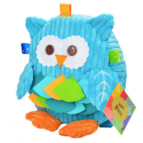 Sozzy Kids Children Toddler Corduroy Animal Backpack - Owl
