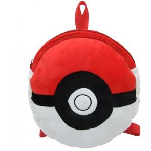 Pokemon Pokeball Soft Plush Kids Backpack (15 inch)