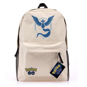 Pokemon Go White Canvas Backpack - Team Mystic Blue