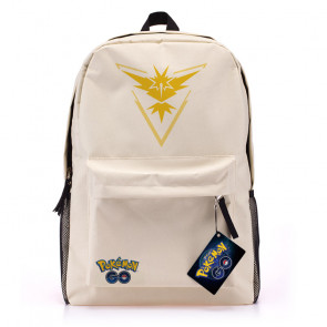 Pokemon Go White Canvas Backpack - Team Instinct Yellow