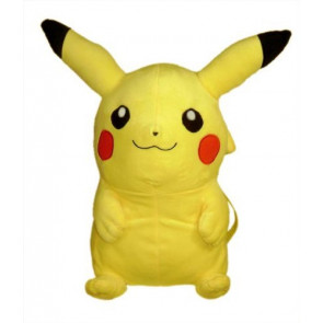 Pokemon Pikachu Soft Plush Kids Backpack (15 inch)