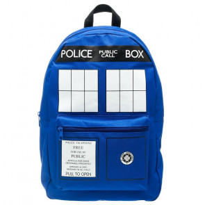 Doctor Who Blue Tardis Police Box Basic Backpack Knapsack