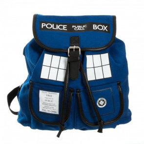 Official Doctor Who TARDIS Design Cotton Rucksack Backpack Bag - One Strap