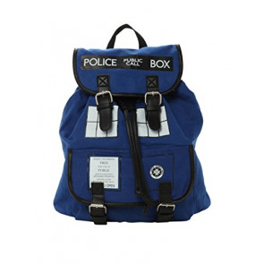 Official Doctor Who TARDIS Design Cotton Rucksack Backpack Bag - Two Strap