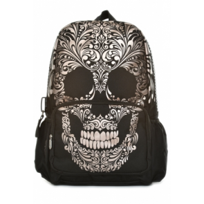 Mojo Backpacks Scroll Skull School Bag