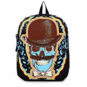 Mojo Backpacks Mustachio Skull School Bag