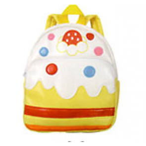 Kids Preschool Kindergarten Cute Backpack Rucksack White Cake